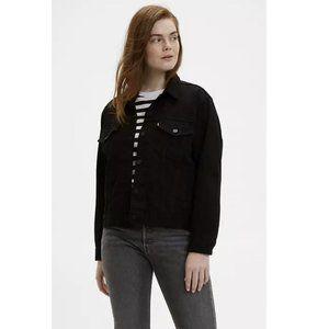 Levi's Vintage Fit Denim Trucker Jacket Black Size S Oversized Fit Button Down